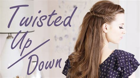 half up half down hairstyles on youtube twisted half up half down hairstyle youtube