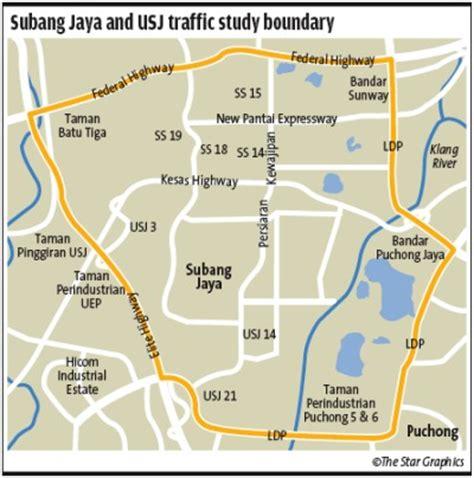 map usj subang jaya traffic study in subang jaya to improve the system