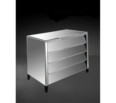 Mirror Dresser Furniture by Dreamfurniture Roanoke Modern Mirrored Bedroom