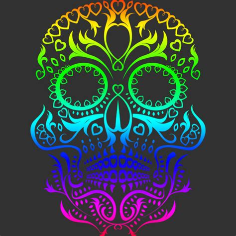 design by humans shirt of the day spectrum day of the dead skull t shirt by matthewbritton