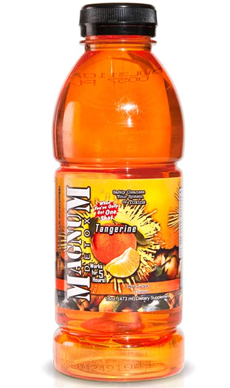 Detox Drinks Flush Toxins by Magnum Detox 16 Oz Tangerine Flavored Cleanse Toxin
