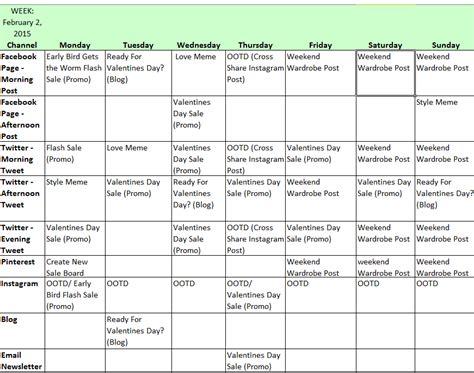 social media calendar template cyberuse