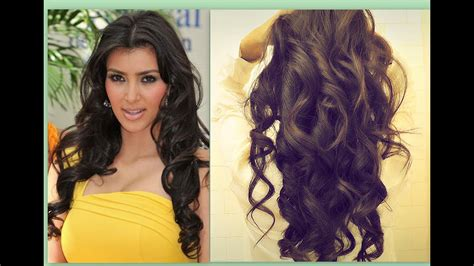 kim kardashian hair tutorial how to curl long hair big