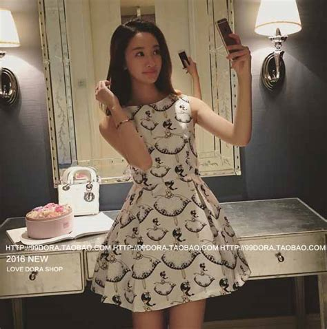 Sleeve Dres Motif Kelinci Lucu Banget mini dress motif lucu korea 2016 myrosefashion