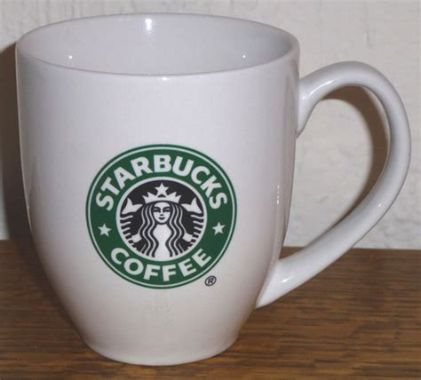 birdsvintageemporium starbucks white open handle set of starbucks large siren logo white barrel coffee mug on storenvy