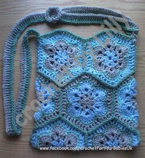 african flower crochet pattern bag african flower crochet bag haken pinterest