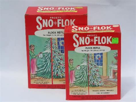 vintage artificial snow flake sno flok christmas tree