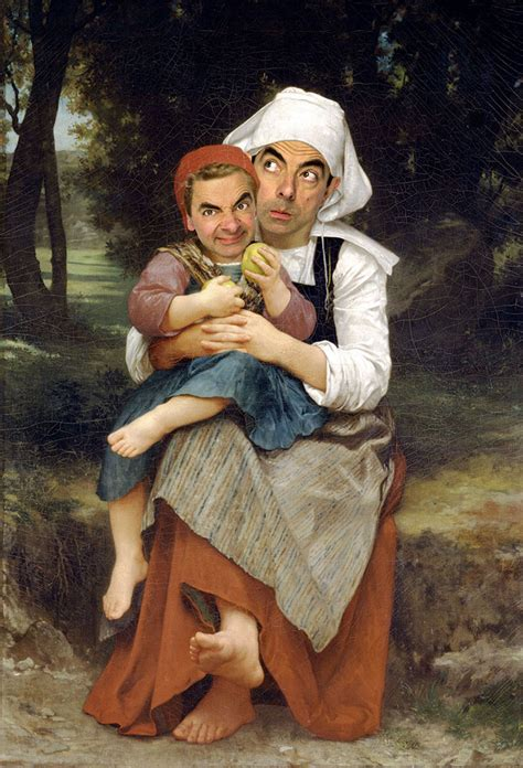 painting mr bean mr bean inserted into historical portraits by caricature