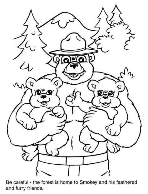 smokey bear coloring pages coloring home