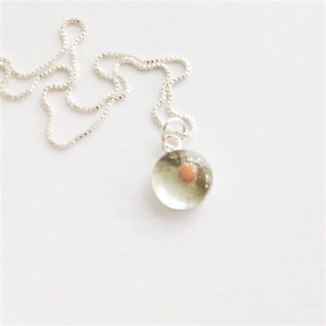 how to make mustard seed jewelry mustard seed pendant teeny tiny sterling silver resin
