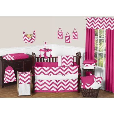 Pink And White Chevron Crib Bedding Chevron Pink And White Crib Bedding Collection
