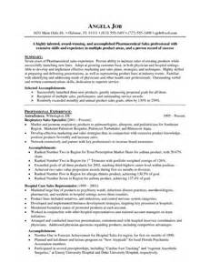 sles of resume for pharmaceutical sales resume