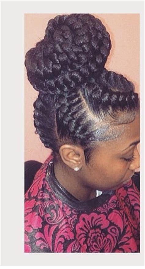 goddess braids in a ponytail chunky cornrowed updo goddess braids pinterest curly