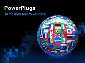 World Flag Templates by Powerpoint Template A 3d Glob With Different Country