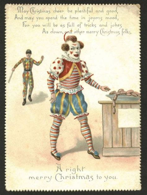 weird  creepy christmas cards   victorian era fun
