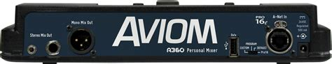 aviom template aviom products a360 personal mixer