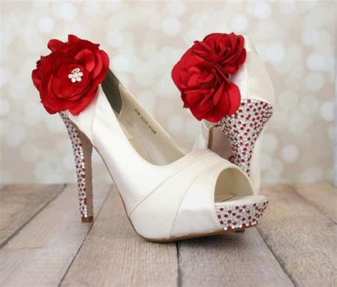 Hochzeitsschuhe Rot by Wedding Shoes Ivory Platform Peep Toe Wedding Shoes With