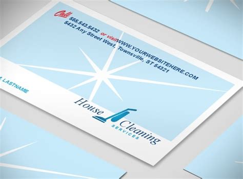 Housekeeping Business Cards Sles