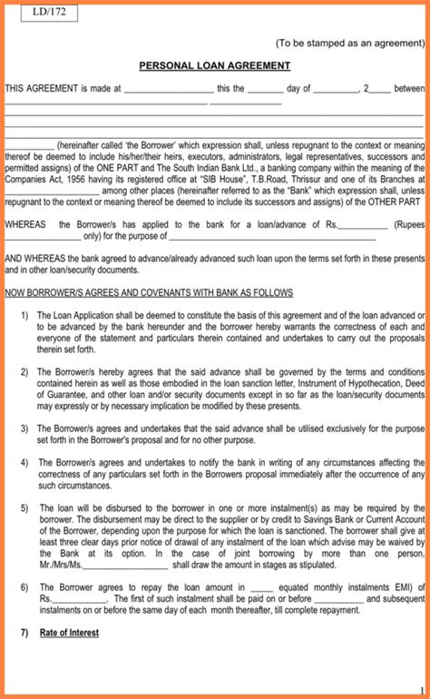 collateral loan agreement template sle loan agreement with collateral loan document simple