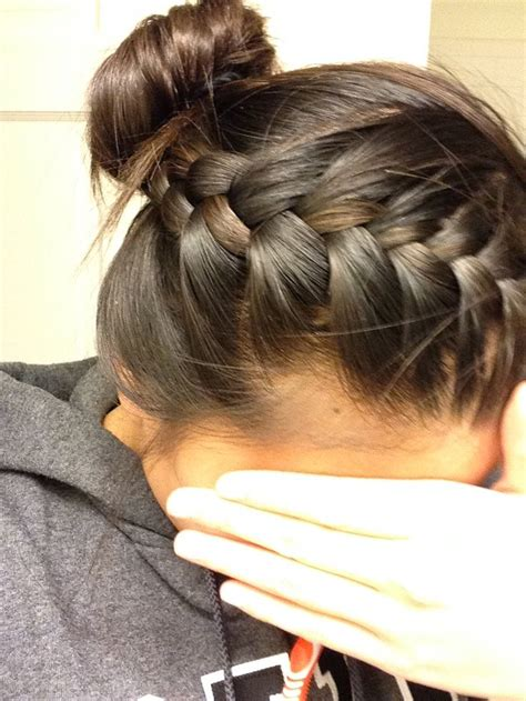 how to put braids into a bun french braid into bun our hairstyles pinterest buns