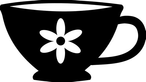 cup silhouette png vintage tea cup black and white clipart clipart suggest