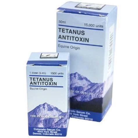 Serum Anti Tetanus equine tetanus antitoxin single dose colorado serum