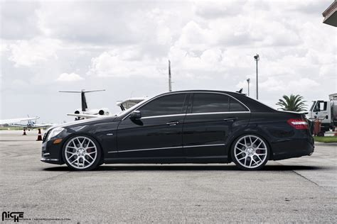 mercedes e350 wheels roll in style with this e350 on niche wheels