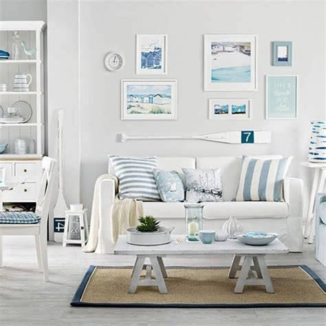 beach themed living room decorating ideas coastal living dining room ideal home housetohome updating the walls utilizing wall art hand