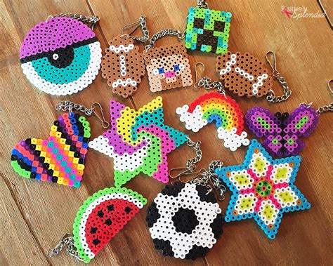 perler crafts craft for perler bead backpack tags