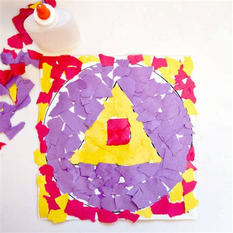 Paper Tearing Craft - torn paper collage popsugar