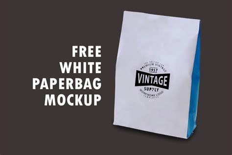 free white paperbag packaging mockup free mockup zone