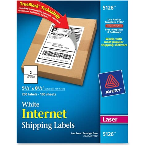 avery 5126 template printable avery shipping labels images