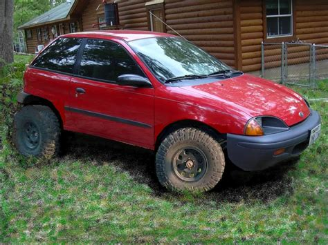 mudding cars project quot ecomudder quot geo metro mud machine bug out
