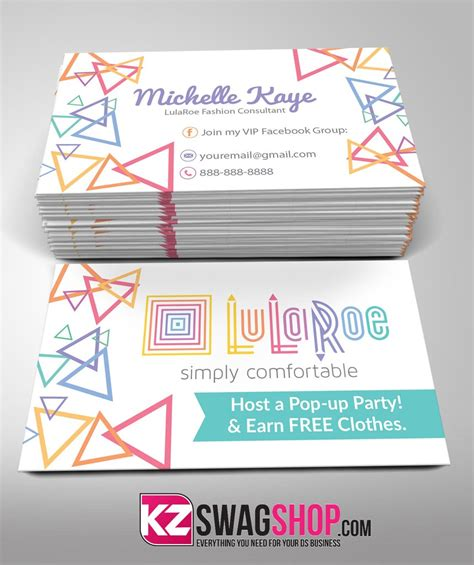 free lularoe gift card template lularoe business cards style 4 kz swag shop