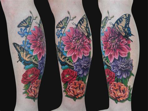 leg flower tattoo designs 20 best flowers sleeve design images and pictures