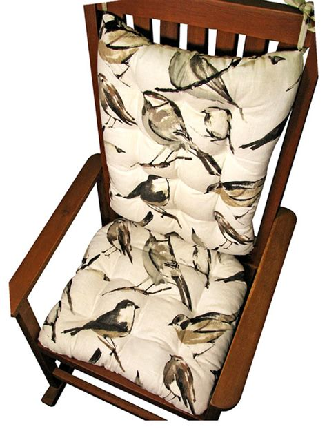 traditional rocking chair cushions song bird rocking chair cushions traditional seat