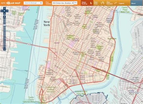 New York Solar Map by Taking The New York City Solar Map For A Test Drive