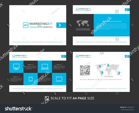 corporate presentation vector template modern powerpoint