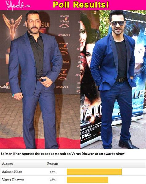 Poll Results Omiru Reports Suits For Work Are In Second City Style Fashion by Salman Khan Looks Better In The Blue Suit Than Varun