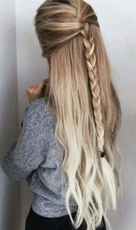 easy hairstyles for school for long thick hair cute easy party hairstyles for long thick hair for school