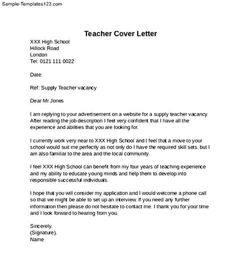 high school cover letter exle sle templates