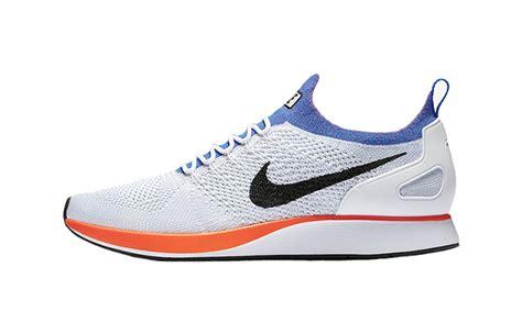 Sepatu Sneakers Nike Air Zoom Racer Flyknit White Blue Orange nike air zoom flyknit racer white crimson fastsole co uk