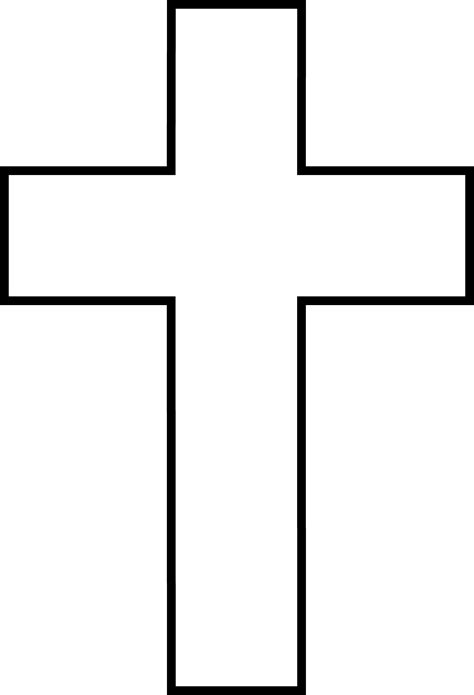 black and white cross free clip art
