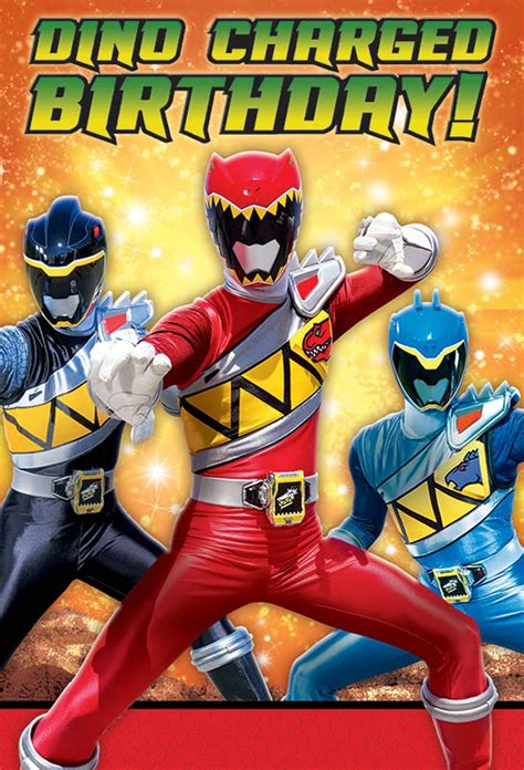 Search For Free No Charge At All Power Rangers Dino Charge Postcard Invitations Birthdayexpress