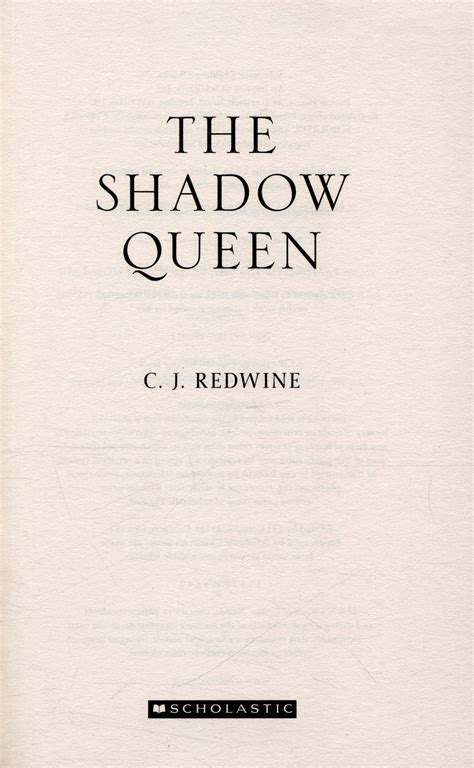 the shadow queen by redwine c j 9781407170602 brownsbfs