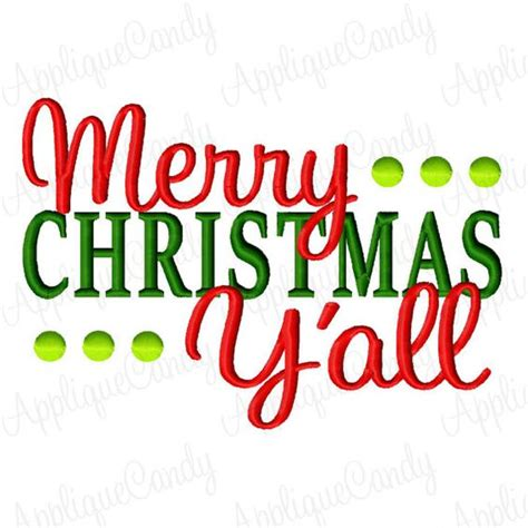 merry christmas y all images merry christmas y all machine embroidery design 4x4 5x7