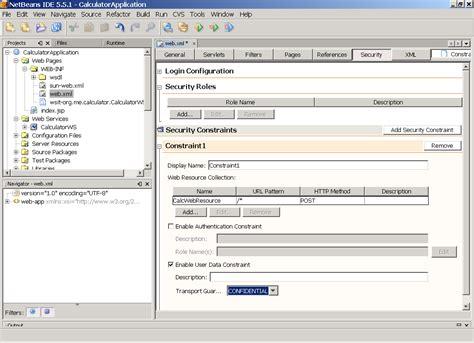 tutorial web xml chapter 7 using wsit security the wsit tutorial