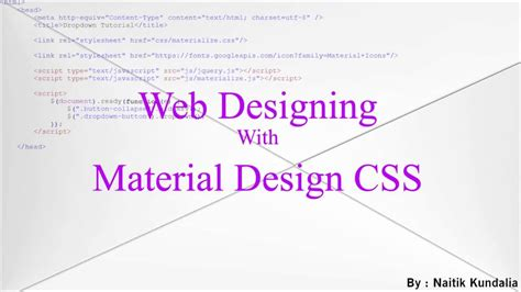 tutorial materialize css tutorial create dropdown menu using materialize css