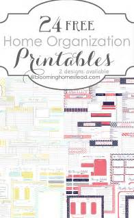 Home Organization Templates by More Than 200 Free Home Management Binder Printables Fab