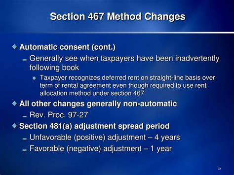 what is section 481 adjustment ppt section 467 rental agreements january 21 2011 aba tax section capital recovery and